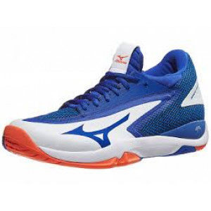 Mizuno Wave Impulse all court - white/reflex blue/Nasturtium