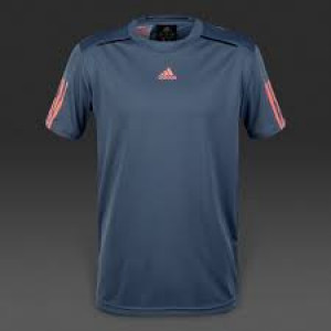Adidas boys Barricade tee - tech ink/flash red