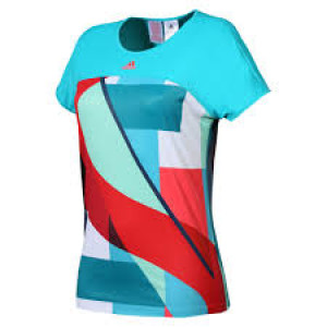 Adidas Adizero tee girls - shock green/shock red