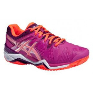 Asics gel Resolution 6 clay women - berry/flash coral/plum