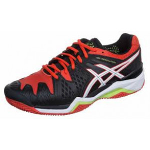 Asics gel Resolution 6 clay - black/white/orange