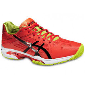 Asics gel Solution Speed 3 clay - orange/black/lime