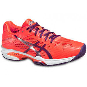 Asics gel Solution Speed 3 clay women -  hot coral/lavender/nectarine