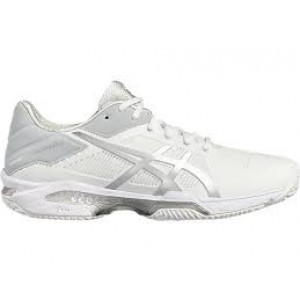 Asics gel Solution Speed 3 clay men - white/silver