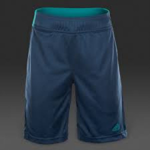 Adidas boys Barricade shorts - mineral blue/etq. green