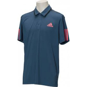 Adidas Barricade polo - tech ink/flash red