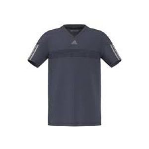 Adidas boys Barricade tee - midnight grey/mgh solid grey