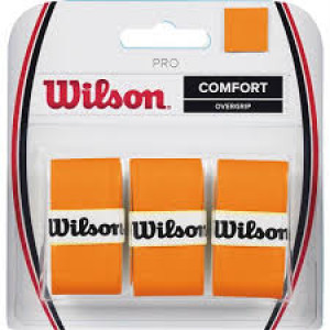 "Wilson Pro Overgrip ""Burn"" 3-pack - orange"
