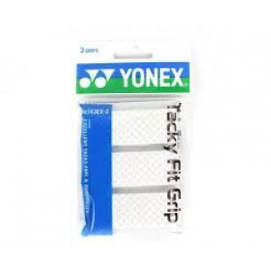 Yonex AC 143-3ex Tacky fit overgrip 3-pack - white