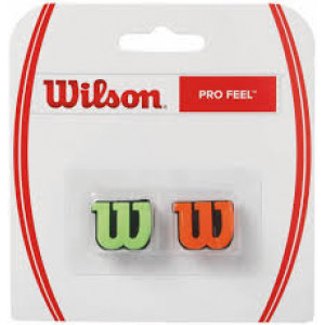 Wilson Pro Feel dampener 2 pack.- Green/Orange