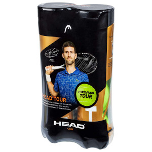 2 stk. HEAD Tour tennisbolde 4 stk.