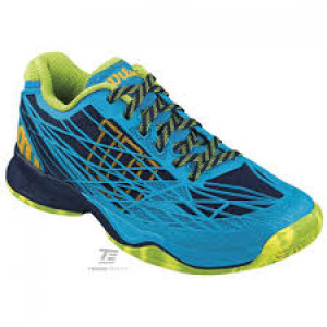 Wilson Kaos clay court - navy wilson/scuba blue/grangreen