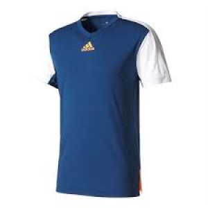 Adidas Melbourne tee - mystery blue/glow orange