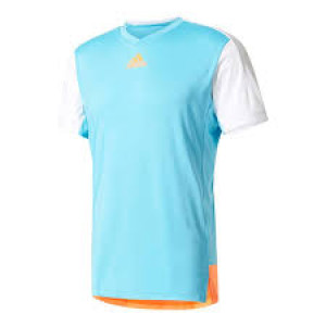 Adidas Melbourne tee -samba blue/glow orange