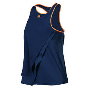 Adidas girls Melbourne tank - mystery blue/glow orange