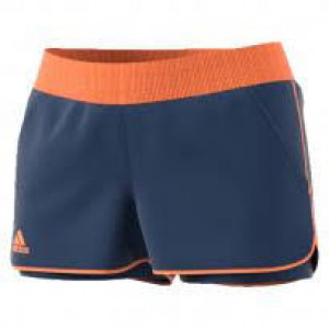 Adidas Court short - mystery blue/glow orange