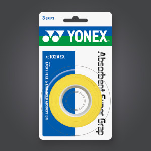 Yonex Absorbent super grab 3-pack - yellow