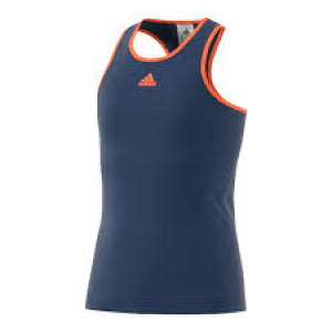 Adidas girls Court tank - mystery blue/glow orange