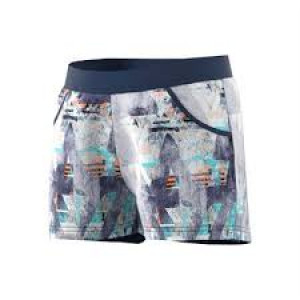 Adidas girls Melbourne short - mystery blue/glow orange