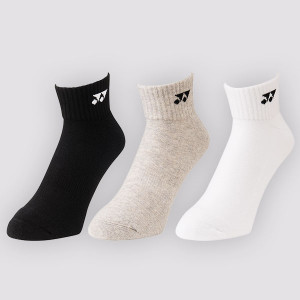 Yonex Sport low cut socks 3-pack - white/grey/black